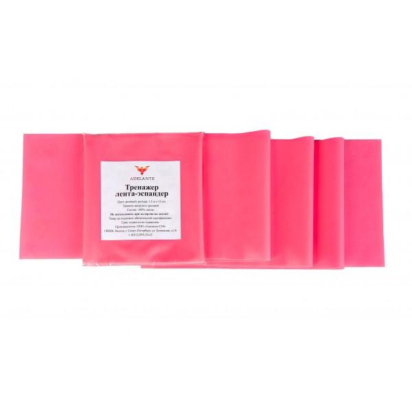 Латексная лента Adelante 1,5 м, средний уровень, розовая