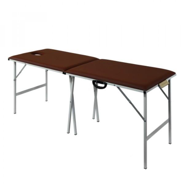 Металлический раскладной массажный стол 185х62см