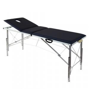 Складной трехсекционный массажный стол с регулировкой высоты 185х62см