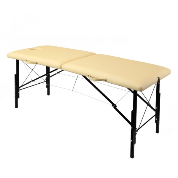 Складной деревянный массажный стол с изменением высоты 190х70см