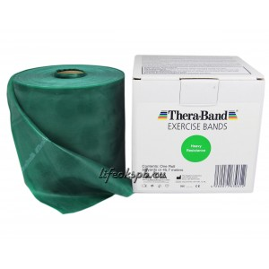 Лента-эспандер зеленая, плотная 12,8 см х 45,5 м  Thera-Band