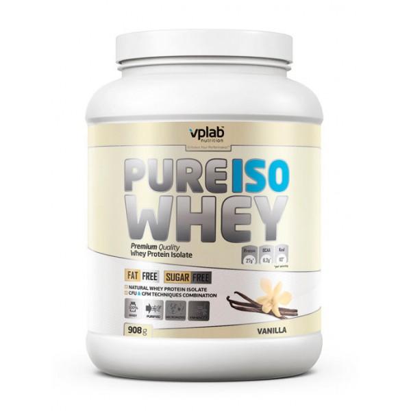 Сывороточный изолят VPLAB Pure Iso Whey, 908 г, Ваниль