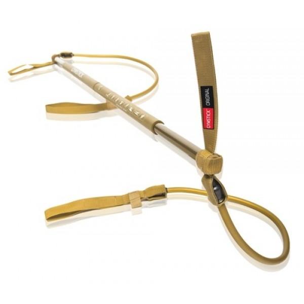 Гимнастическая палка с амортизатором Gymstick Original Super Strong золотая