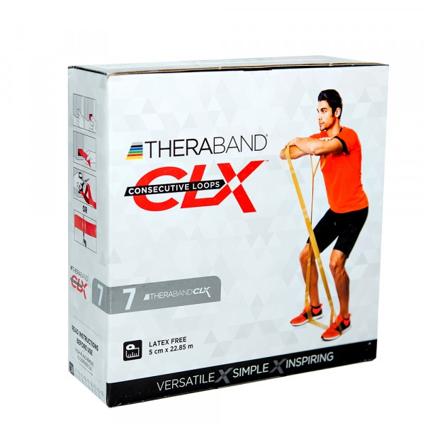 Лента-эспандер CLX Thera-Band, серебряная 22,85 м