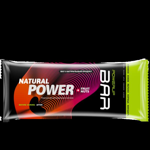 Батончик энергетический FRUIT+NUTS BAR 50 г (финик, изюм, яблоко, корица, миндаль)