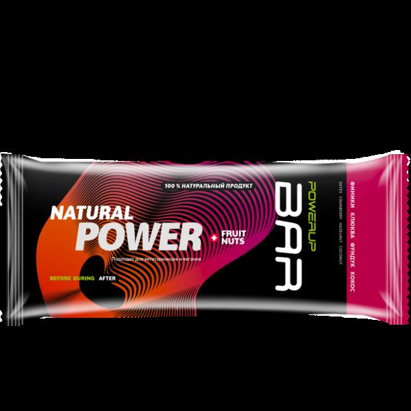 Батончик энергетический FRUIT+NUTS BAR 50 г (финик, клюква, фундук, кокос)
