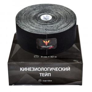 Кинезиологический тейп Adelante Extreme синтетический черный 32 м