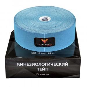 Кинезиологический тейп Adelante Extreme синтетический голубой 32 м