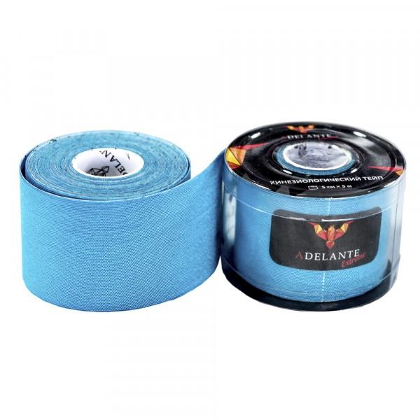 Кинезиологический тейп Adelante Extreme синтетический голубой 5м