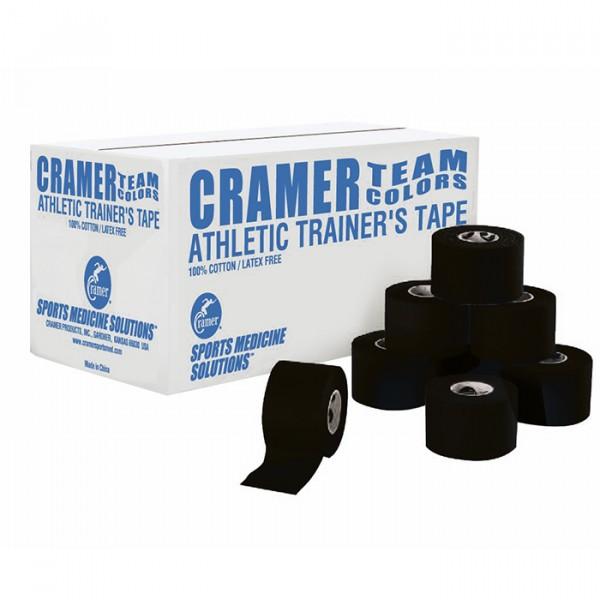 Тейп атлетический жесткий черный 3,8 см х 9,14 м Cramer