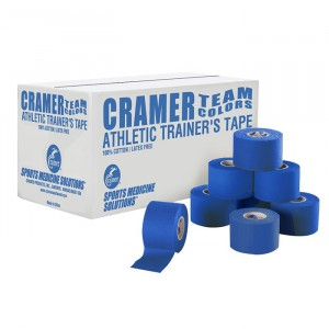 Тейп атлетический жесткий синий 3,8 см х 13,7 м Cramer