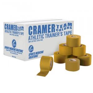 Тейп атлетический жесткий золотой 3,8 см х 13,7 м Cramer