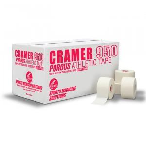Тейп Porous Athletic Tape 100% хлопок, ZnO 2,5 см х 13,7 м Cramer