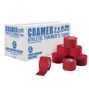 Тейп атлетический жесткий красный 3,8 см x 13,7 м Cramer