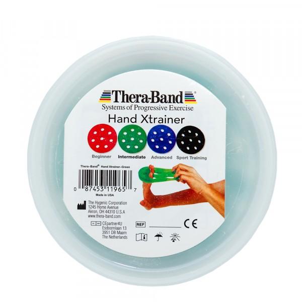 Тренажер для кистей рук XTrainer зеленый, средний уровень TheraBand