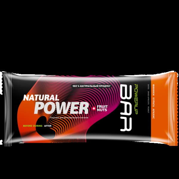 Батончик энергетический FRUIT+NUTS BAR 50 г (финик, курага, арахис)