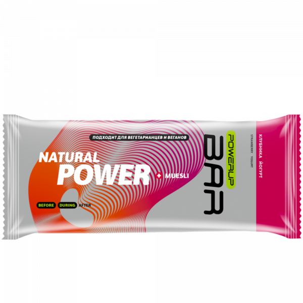 Батончик энергетический MUESLI BAR 50 г (клубника, йогурт)