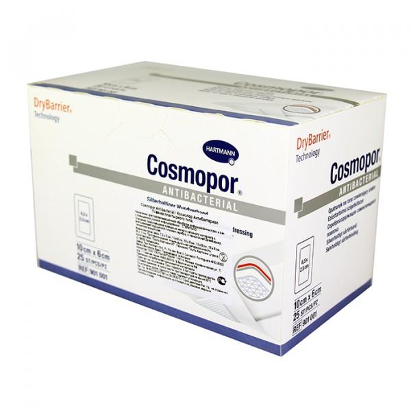 Серебросодержащая самоклеящаяся повязка COSMOPOR Antibacterial 10 x 6 см