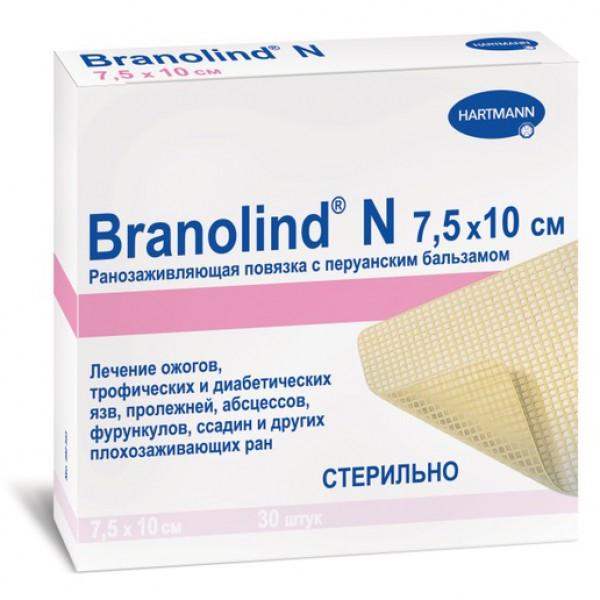 Мазевая повязка с перуанским бальзамом Branolind N 7,5 х 10 см