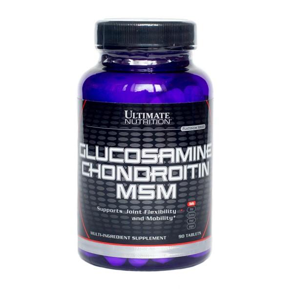 Глюкозамин & хондроитин MSM Ultimate Nutrition 90 табл.