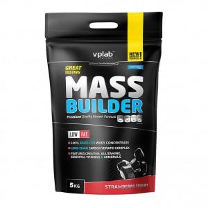 Гейнер Mass Builder 5000 гр. (клубника-йогурт)